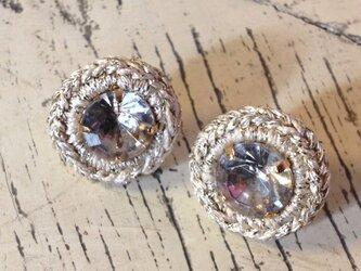 Boucles d'oreilles bijoux rond ブラックダイアモンドの画像