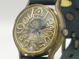 "Men's Brass Sun&Moon ""S-WATCH2-B-S&M"" [207B-S&M 数字/NV]の画像"
