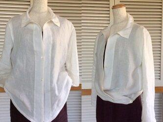 受注制作:ハンサムな白い2Wayシャツの画像