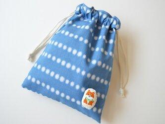 レトロ な絞り調 水玉 柴犬・巾着袋の画像