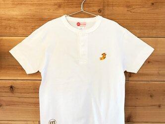 金鯱 刺繍 ヘンリーネックTシャツの画像