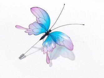 蝶ハットピン-Iridescent butterflyⅡ-の画像