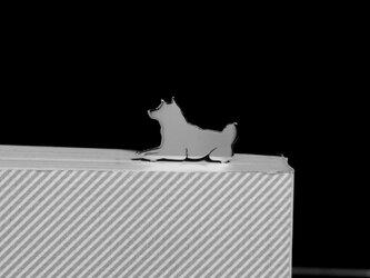 Dog-BookMark-27-d シルバーブックマーク しおり 柴犬【受注制作】の画像
