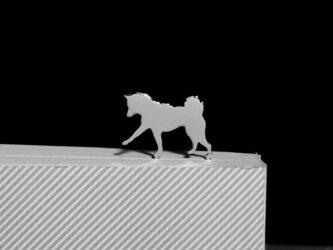 Dog-BookMark-28-d シルバーブックマーク しおり 柴犬【受注制作】の画像