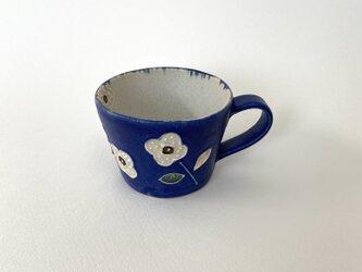 花マグ(青×白)の画像