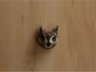 マゼランワシミミズク 顔面ブローチの画像
