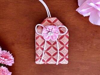 元巫女の花のお守り袋(赤菱)の画像
