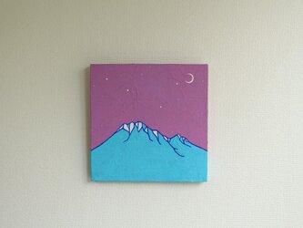 「himaraya」 山イラスト原画パネルの画像