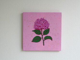 「紫陽花」 アクリルイラスト原画パネルの画像