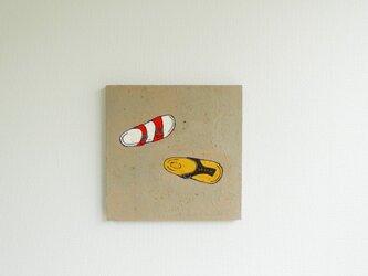 「ビルケンシュトック」 アクリルイラスト原画の画像