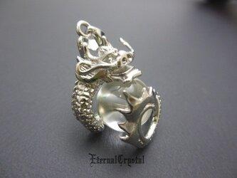 ◆EC◆大玉水晶を包み込んだ龍pendant◆の画像