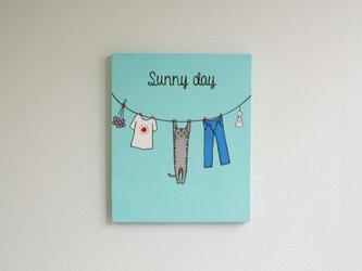「Sunny day」 ネコのイラスト原画パネルの画像