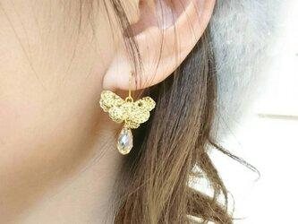 蝶としずく papillon et gouttelette ゴールドの画像
