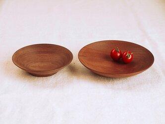 木のお皿・器 ブラックウォールナット材2 2皿セットの画像