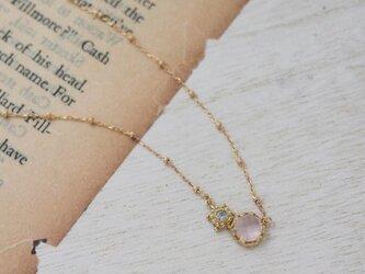 moonlight necklace K18 (ローズクォーツ)【FN157】の画像