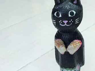 貝殻水着の猫マグネット の画像
