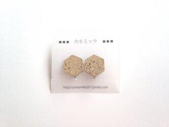 受注生産 六角タイル(無釉)のイヤリングの画像