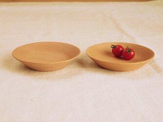 木のお皿・器 ブナ材1 2皿セットの画像