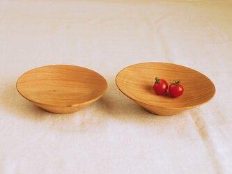 木のお皿・器 桜材1 2枚セットの画像