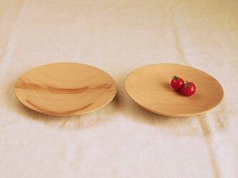 2枚セット 木のお皿・器 ブナ材2の画像