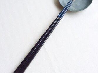 漆の磨き箸(乾漆粉・青)の画像