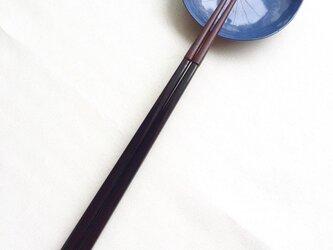 漆の磨き箸(乾漆粉・赤)の画像