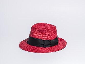 天然ブレード中折れハット ラフィアの帽子です。17SSN-002の画像