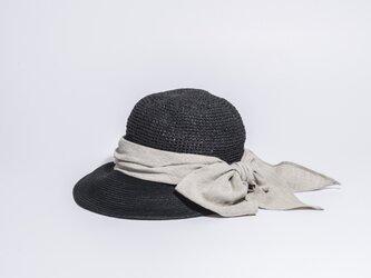 天然折りたたみママキャップ 麦わら帽子 17SSN-006 の画像