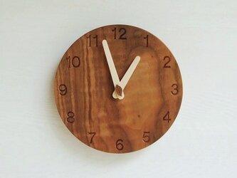 直径20cm 掛け時計 ウォールナット【1717】の画像