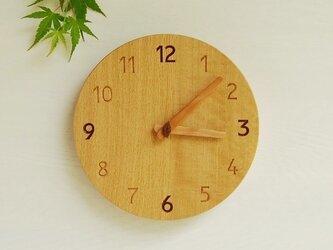 直径22cm 掛け時計 オーク【1719】の画像