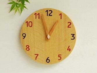 直径24cm 掛け時計 オーク【1722】の画像