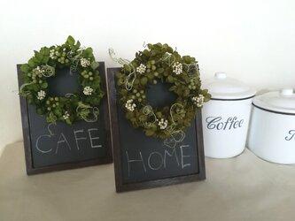 green wreath [ブラックボード アレンジ]の画像