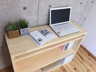 大容量の可動式棚 W1000 サブテーブルにも◎ 受注生産の画像