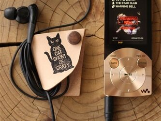 イヤホンコード&フォルダー 猫 の画像