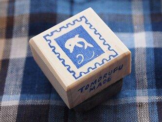 消しゴムはんこ☆海「切手No.2」の画像