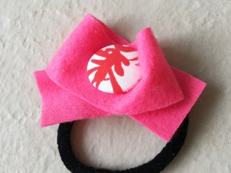 アカイヌ フエルトヘアゴム ピンクの画像