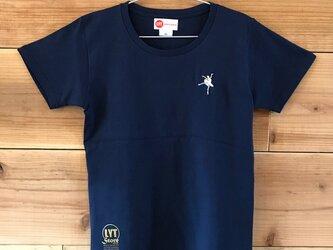 バレエ 刺繍 クルーネックTシャツの画像