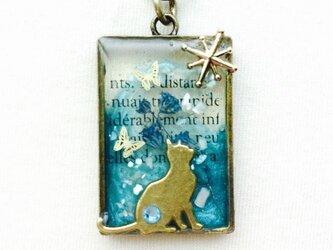 レジンキーホルダー  猫と宵の星の画像