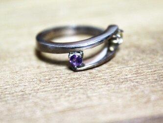紫水晶と黄水晶のsilverリング 1点ものの画像