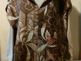 紅梅織りのプルオーバーの画像