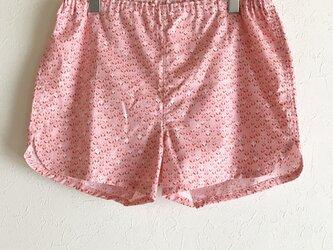 ★送料無料★可愛いハギレのショートパンツ:L(米パンダ:ピンク)の画像