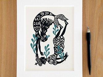 童話の切り絵『人魚姫』の画像