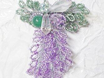 藤の花のコサージュ・ブローチ(C)の画像