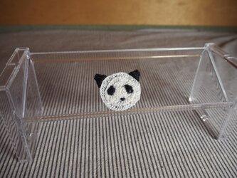 パンダさんブローチ(白/黒)小の画像