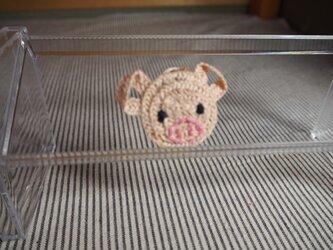ぶたさんブローチ(ピンク) 小の画像