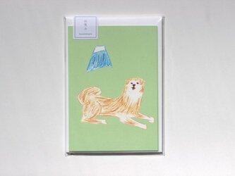 秋田犬のレターセットの画像
