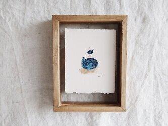 再販: 版画のかけら・青い鳥の画像