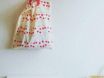 手ぬぐい袋 さくらんぼ柄の画像