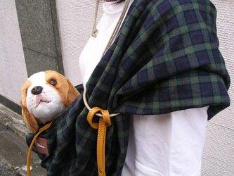 犬用抱っこ紐(ブラックウオッチ)の画像