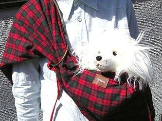 犬用抱っこ紐(タータンチェック)の画像